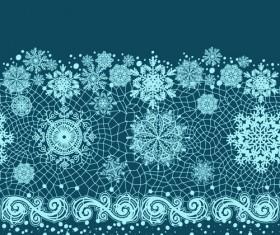 Christmas Snowflake Lace vector set 03