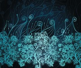 Christmas Snowflake Lace vector set 05
