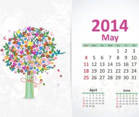 May 2014 Calendar vector