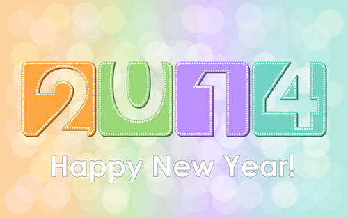 New Year 2014 Creative vector graphics 04