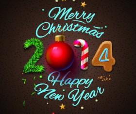 New Year 2014 Christmas deisgn vector