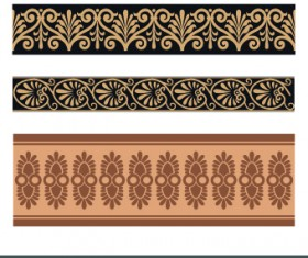 Ancient Ornament pattern vector 02