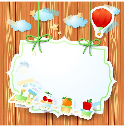 Cartoon Paper Cards vector graphics 01