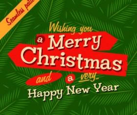 Pine leaf christmas background vector
