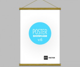 Blank poster template vector 04