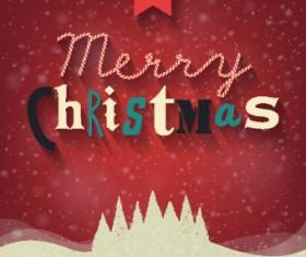 Retro Christmas cute background 01