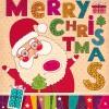 Vintage Cute Santa background vector 01