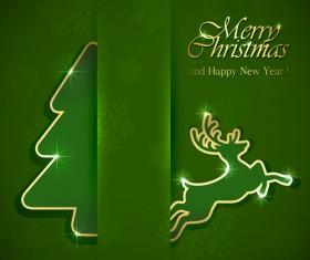 Shiny green style christmas background