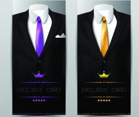 Vector set of Tuxedo Cards 01