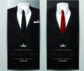 Vector set of Tuxedo Cards 02