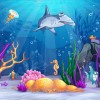 Cartoon Underwater World vectors 03