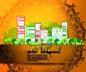 Vector set of Urban design background 01