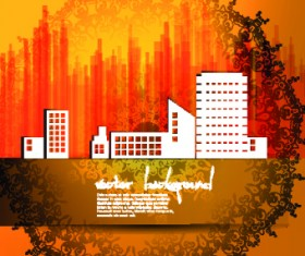 Vector set of Urban design background 03
