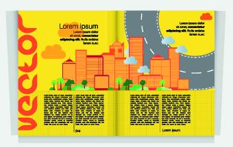 Urban Magazine cover design elements vector 03