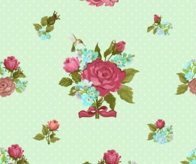 Vintage flower vector patterns 01