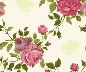 Vintage flower vector patterns 02