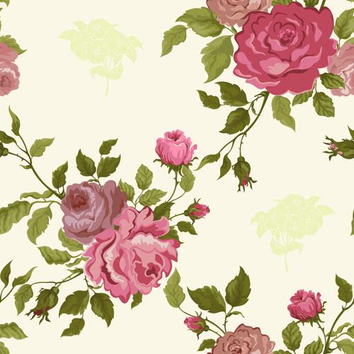 Vintage flower vector patterns 02Vintage Flower Patterns