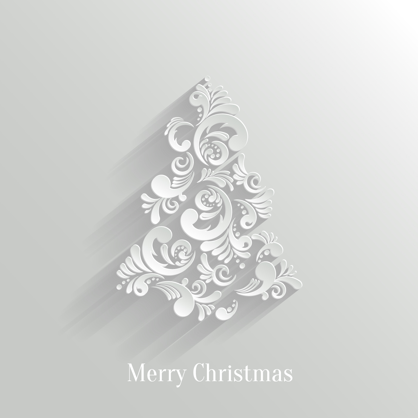 paper floral white christmas backgrounds vector 03