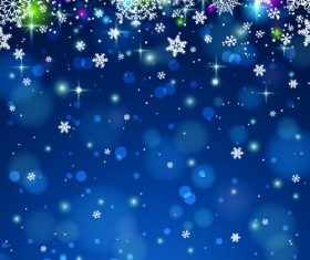 Vector Winter snowflakes background 01