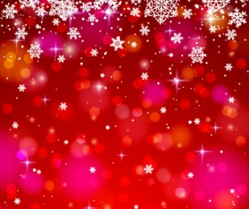 Vector Winter snowflakes background 02