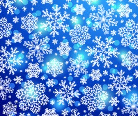 Vector Winter snowflakes background 04