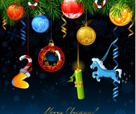 Christmas with 2014 New Year Creative background set 02