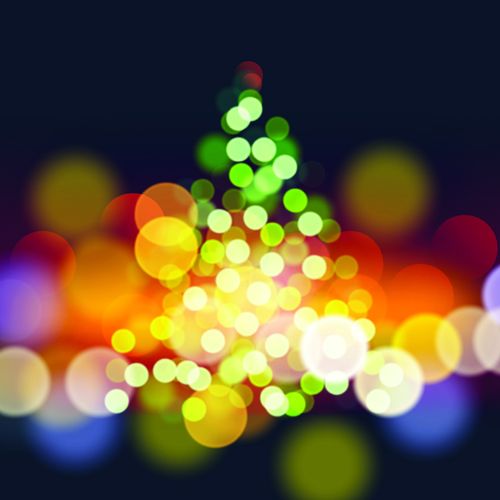 Christmas with 2014 New Year Creative background set 03