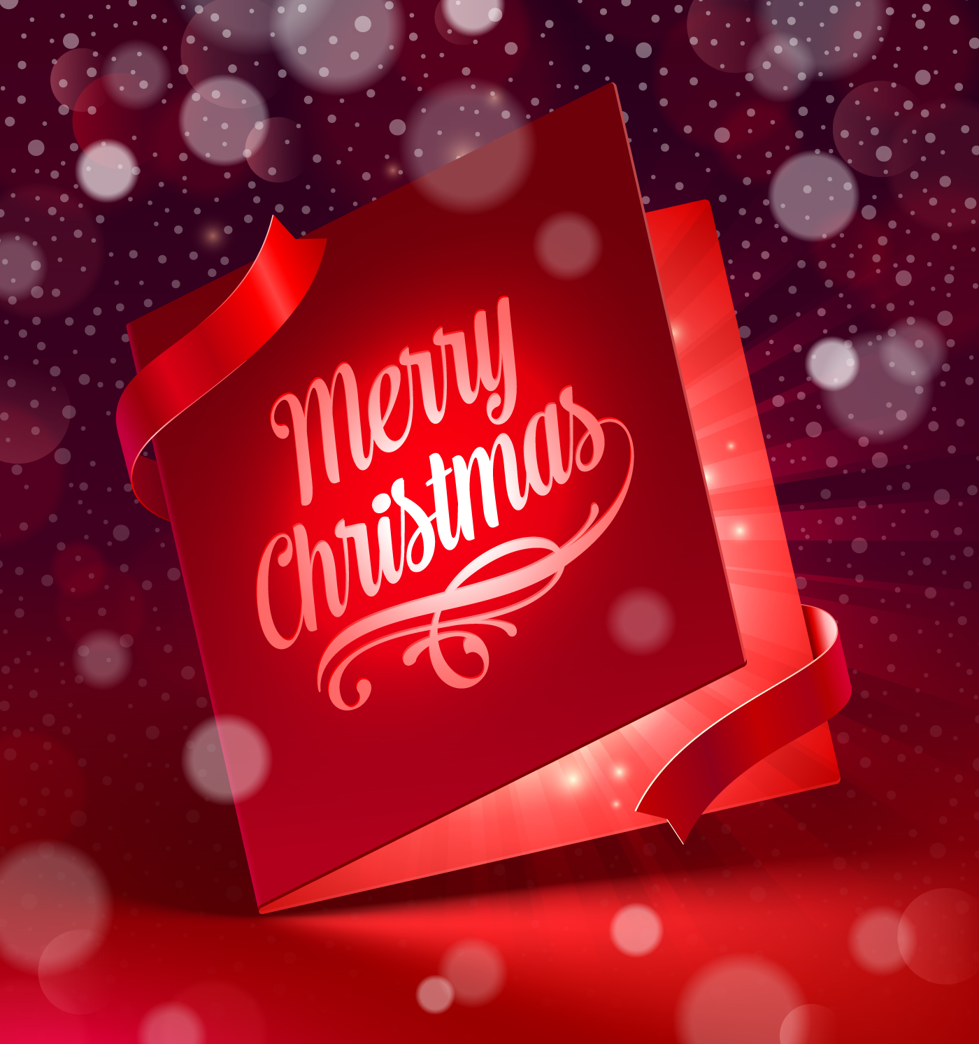 Christmas with 2014 New Year Creative background set 06