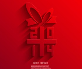 2014 Xmas red background vector set 06