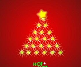 2014 Xmas red background vector set 07
