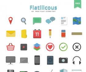 48 Kind free flat Layered PSD icons