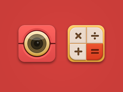 Camera and Calculator psd icons