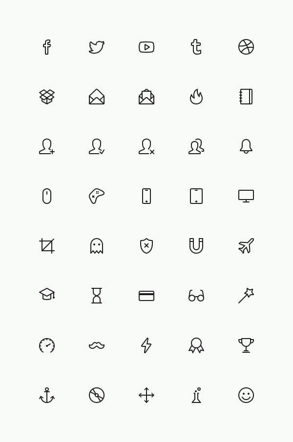 Small Fine Line Icons Psd Material Icons Psd File Web