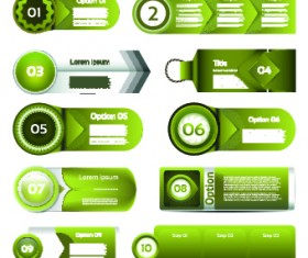 Paper banners number vector 02