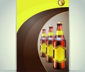 Creative beer poster vector set 03