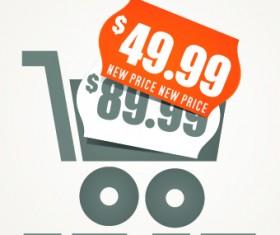 Big sale price tag creative vector 02