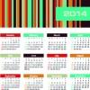 Vector set of 2014 calendar design 03