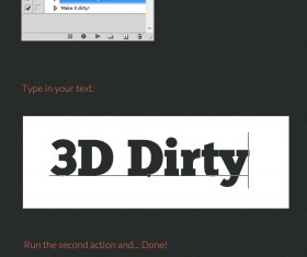 3D Dirty Text Action and Style