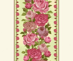 Vintage flower and frames vector 03
