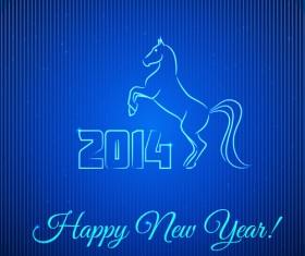 Horses 2014 design elements vector 05