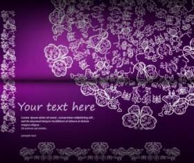 Floral ornate invitation card vector 02