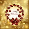 luxurious Christmas New Year baubles vector background 03