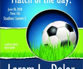 Soccer poster design vector set 02
