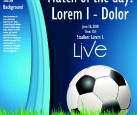 Soccer poster design vector set 03