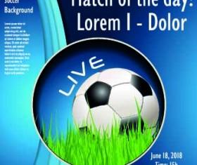 Soccer poster design vector set 04
