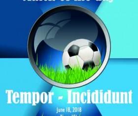 Soccer poster design vector set 05