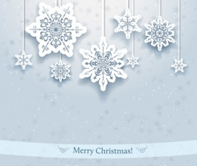 Beautiful snowflakes christmas backgrounds vector 01