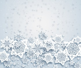 Beautiful snowflakes christmas backgrounds vector 02
