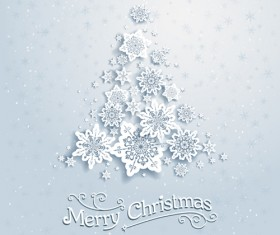 Beautiful snowflakes christmas backgrounds vector 04