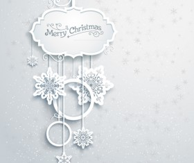 Beautiful snowflakes christmas backgrounds vector 05